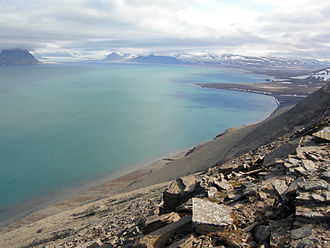 Isfjorden (Svalbard) - Isfjord from the south shore near Degeerdalen.