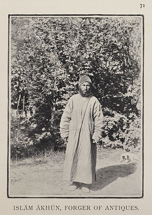 Islam Akhun - Islam Akhun, photographed by Stein in 1901.