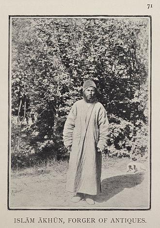 Islam Akhun - Islam Akhun, photographed by Stein in 1901.