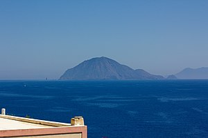 Filicudi - Filicudi as seen from Lipari