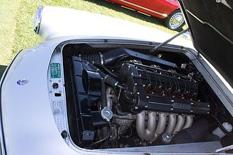 Maserati 3500 GT - View of the engine bay of a 3500 GT