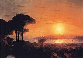 Ivan Constantinovich Aivazovsky - Sunset over the Golden Horn