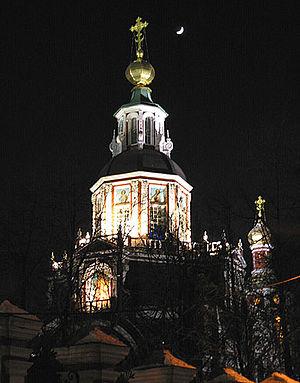 Church of St. John the Warrior - The church at night