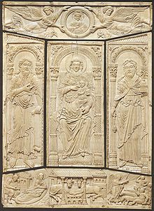 220px-Ivory cover of the Lorsch Gospels 2C c  810 2C Carolingian 2C    Wikipedia Book