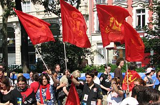 Mouvement Jeunes Communistes de France - Jeunesse communiste demonstrators, May 2007