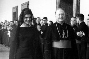 Martin John O'Connor - Archbishop O'Connor accompanies First Lady Jacqueline Kennedy during her 1962 trip to the Vatican