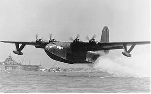 Martin JRM Mars - JRM-1 BuNo 76820, Philippine Mars taking off from San Francisco Bay, 1946
