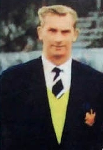 Jackie Milburn - Milburn as Linfield player-manager, 1957