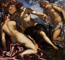 Jacopo Tintoretto - Mercury and the Graces - WGA22621.jpg