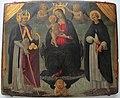 Jacopo del sellaio e bottega, madonna tra i santi nicola e pietro martire.JPG