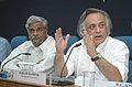Jairam Ramesh and the Minister of State (Independent Charge) of Coal, Statistics and Programme Implementation, Shri Sriprakash Jaiswal at the Joint Press Briefing, in New Delhi on June 18, 2009.jpg