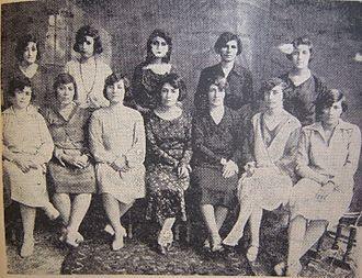 "Women's rights movement in Iran - The board of directors of ""Jam'iat e nesvan e vatan-khah"", a women's rights association in Tehran (1923-1933)"