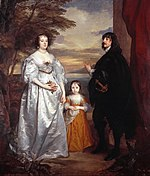 James, Seventh Earl of Derby, His Lady and Child, by Anthony Van Dyck (1599 - 1641).jpg