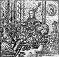 Jan Willenberg, Figůra krásně ozdobených žen sedících na zemi.png