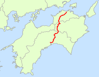 Japan National Route 32 Road in Japan