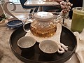 Japanese sencha at dessert cafe.jpg