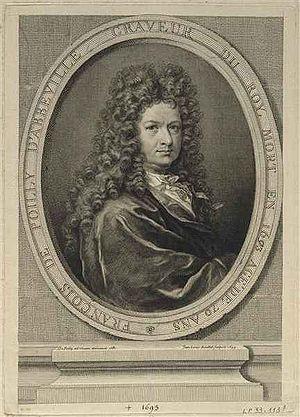 François de Poilly - François Poilly. Portrait par Jean-Louis Roullet
