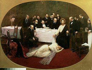 Parable of the Two Debtors - St. Mary Magdalene in the House of Simon the Pharisee, Jean Béraud, 1891.