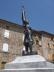 Statue of Joan of Arc at Arlebosc