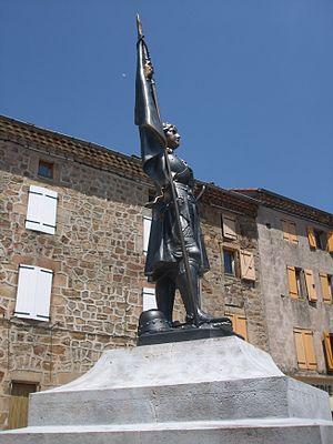 Arlebosc - Statue of Joan of Arc at Arlebosc