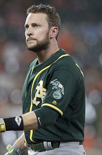 Jed Lowrie - Lowrie with the Athletics in 2017.