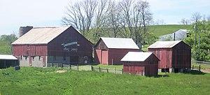 Island Creek Township, Jefferson County, Ohio - Jefferson County's Bicentennial Barn is on Route 213