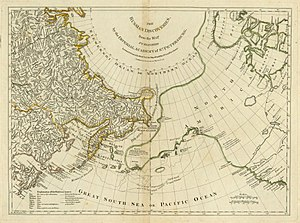 Thomas Jefferys - Example of Jefferys' work. The eastern part of Siberia as depicted by the Second Kamchatka Expedition.