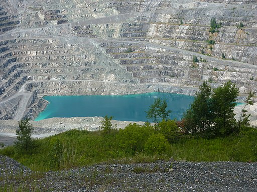 Jeffrey Mine in Asbestos, Quebec - Canada - 29 July 2013
