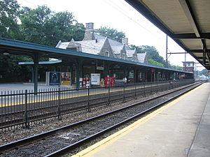 Wyncote, Pennsylvania - The Jenkintown-Wyncote station is one of the busiest in the SEPTA system.