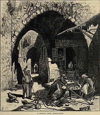 Harry Fenn - Image: Jerusalem cafe 1880
