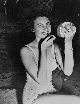 1953 in Australia - Winner of the Sun Girl Quest at Suttons Beach, 1953