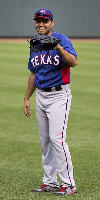 Joakim Soria - Soria pitching for the Texas Rangers