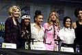 Jodie Whittaker, Regina King, Amandla Stenberg, Chloe Bennet & Camila Mendes (28855152317).jpg