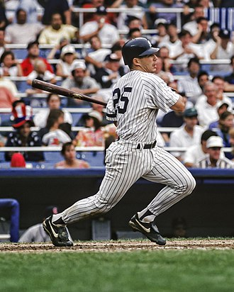 Joe Girardi - Girardi bats for the Yankees, 1996