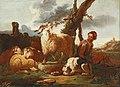 Johann Heinrich Roos (attr) - A shepherd and his flock in a landscape.jpg