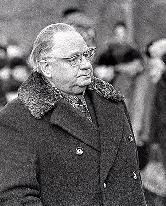 Johannes Kabin, the leader of the Communist Party of Estonia from 1950 to 1978 Johannes Kabin 1978.jpg