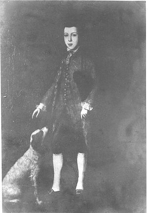 Sir John Lubbock, 1st Baronet - John Lubbock, 1st Baronet as a young man with his dog