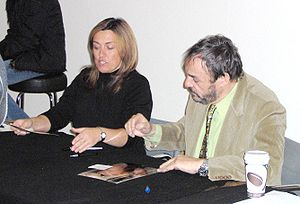 John Rhys-Davies - Rhys-Davies in an autograph session in Sweden