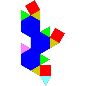 Augmented truncated tetrahedron - Image: Johnson solid 65 net