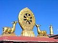 Jokhang, Tibet -5443 - Dharma Wheel and deers.jpg