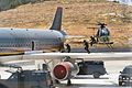 Jordanian Special operators give a demonstration of an aircraft takedown.JPG
