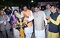 "Jual Oram lighting the lamp at the inauguration of the ""Aadi Mahotsav"" a Celebration of the spirit of Craft, Culture, Cuisine & Commerce, organised by the Ministry Tribal Affairs, in New Delhi.JPG"