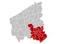 Judicial Arrondissement Kortrijk Belgium Map.PNG