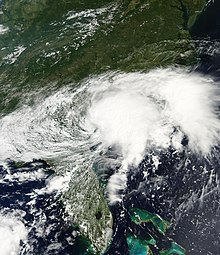 A visible satellite imagery of Tropical Storm Julia over Georgia on September 14