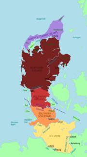 Jutland Peninsula map