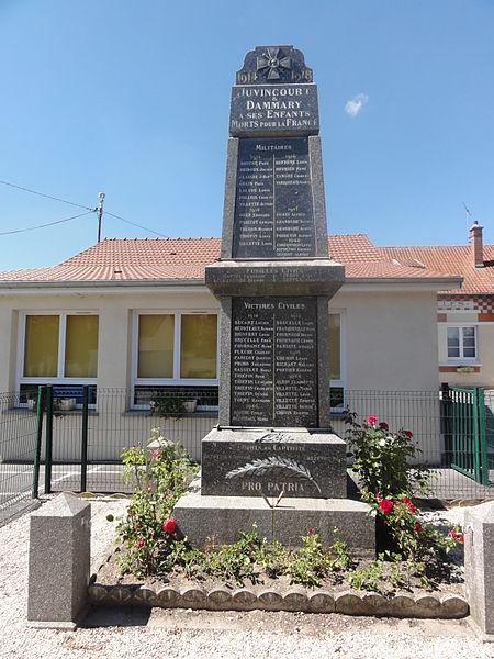 Juvincourt-et-Damary (Aisne) monument aux morts