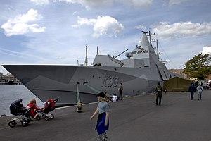 Visby-class corvette - Image: K33 HMS Haernosand Karlskrona Marindagen 2008