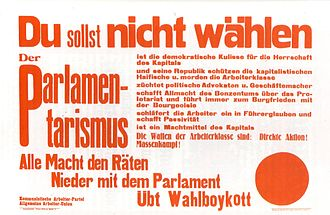 Communist Workers' Party of Germany - Poster issued by the KAPD/AAUD in 1919