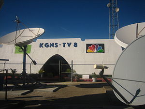 KGNS-TV - KGNS studios on Del Mar Boulevard, near the intersection of Interstate 35.