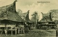 KITLV - 1400322 - Kleingrothe, C.J. - Medan - Karo Batak houses in a village on the east coast of Sumatra - circa 1900.tif